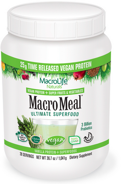 Image of MacroMeal Vegan Powder Vanilla 28 Servings