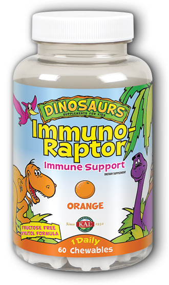 Image of Dinosaurs ImmunoRaptor Chewable Orange