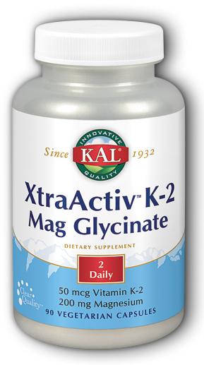 Image of K2 Mag Glycinate Xtra Activ 25 mcg/100 mg