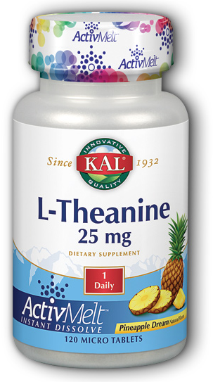 Image of L-Theanine 25 mg ActivMelt Pineapple