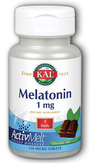 Image of Melatonin 1 mg ActivMelt Chocolate Mint