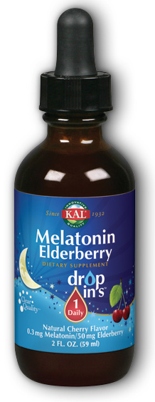 Image of Melatonin Eldreberry 0.3/50 mg DropIns Cherry