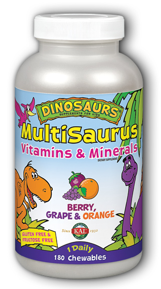 Image of Dinosaurs MultiSaurus Vitamins & Minerals Berry Grape & Orange