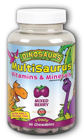 Image of Dinosaurs MultiSaurus Vitamins & Minerals Mixed Berry