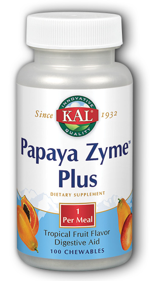 Image of Papaya Zyme Plus Chewable Tropical Fruit