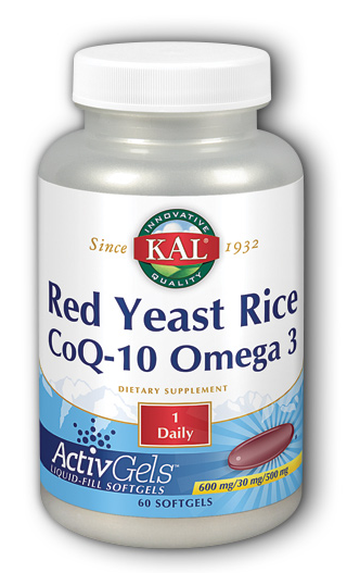 Image of Red Yeast Rice CoQ10 Omega 3 600/30/500 mg ActivGels
