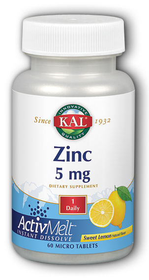 Image of Zinc 5 mg ActivMelt Sweet Lemon