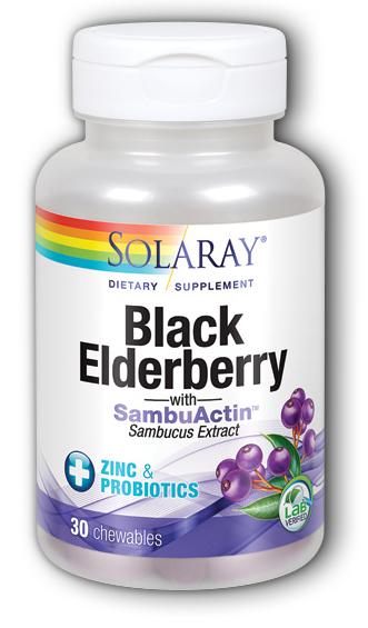Image of Black Elderberry with SambuActin (plus Zinc & Probiotics) Chewable