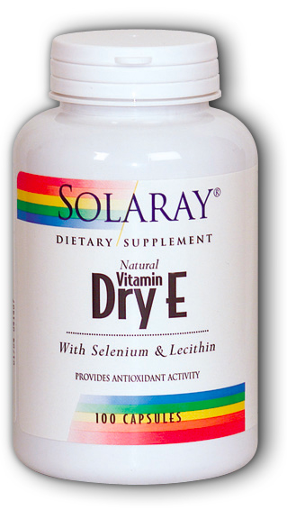 Image of Dry Vitamin E 400 IU with Mixed Tocopherols Selenium & Lecithin