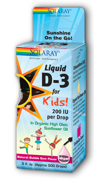 Image of Liquid D-3 for Kids 200 IU Bubble Gum