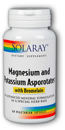 Image of Magnesium and Potassium Asporotates with Bromelain 150/20/70 mg