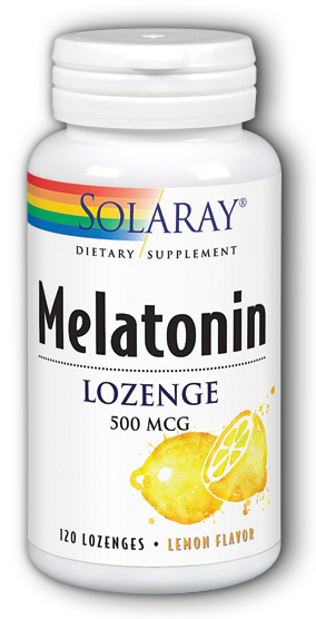 Image of Melatonin 500 mcg Lozenge Lemon