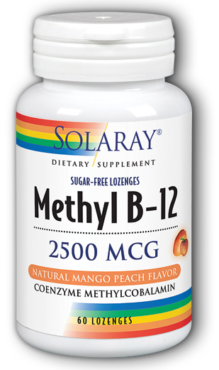 Image of Methyl B12 2500 mcg Lozenge Mango Peach