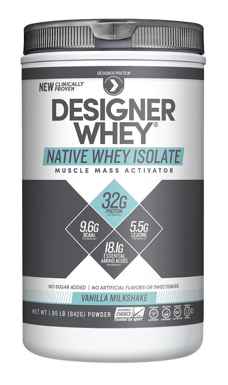 Image of Designer Whey Native Whey Isolate Vanilla Milkshake