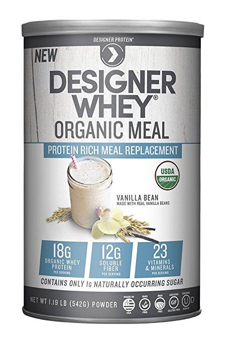 Image of Designer Whey Organic Meal Replacement Vanilla Bean