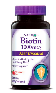 Image of Biotin 1000 mcg Fast Dissolve Strawberry