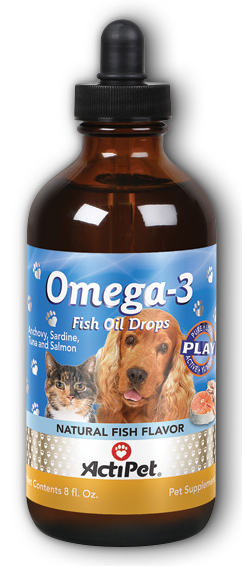 Image of Omega-3 Fish Oil Drops for Cats & Dogs Liquid Fish