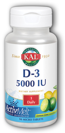 Image of Ultra D3 5,000 IU ActivMelto Lemon Lime