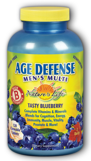 Image of Age Defense Men's Multi Chewable Blueberry