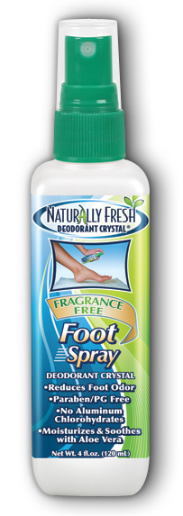 Image of Naturally Fresh Deodorant Crystal Foot Spray Fragrance Free