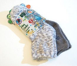 Image of Aloe Infused Moisturizing Socks - Gray Plaid