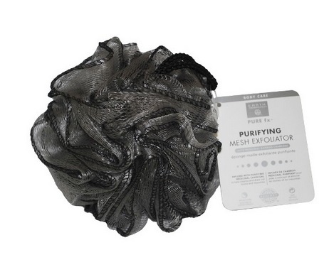 Image of Mesh Exfoliating Pouf Medicinal Charcoal