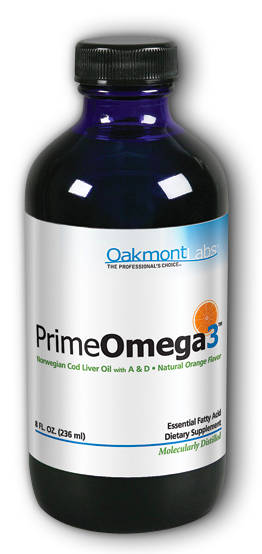 Image of PrimeOmega3 Cod Liver Oil Liquid Orange