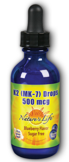 Image of Vitamin K2 MK7 Drops 500 mcg Blueberry