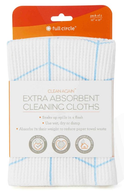Image of Clean Again Extra Absorbent Cleaning Cloths Blue