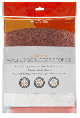 Image of In a Nutshell Walnut Scrubber Sponge