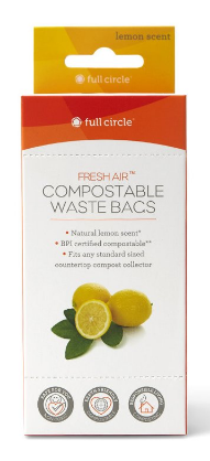 Image of Fresh Air Compostable Waste Bags Lemon Scented