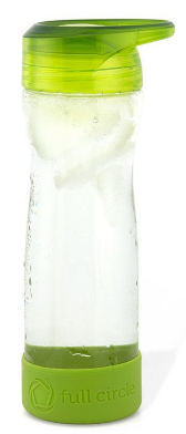 Image of Hydrate Mate Glass Travel Bottle 16 oz Lime Green