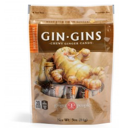 Image of Gin Gins Chewy Ginger Candy Hot Coffee