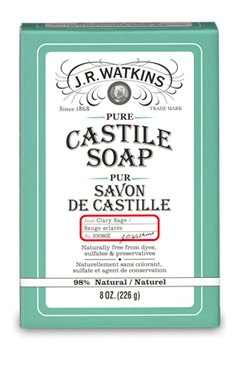 Image of Hand & Body Soap Bar Clary Castile Sage