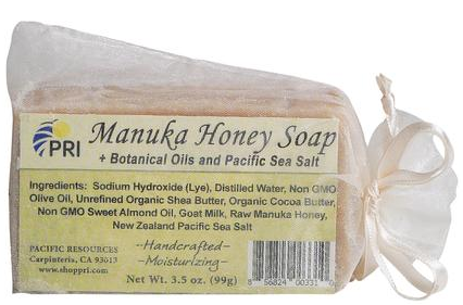 Image of Manuka Honey Soap with Botanical Oils & Sea Salts