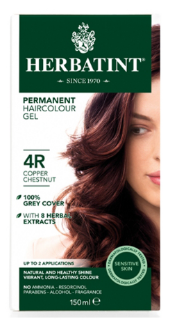Image of Herbatint Haircolor Gel Copper Chestnut 4R