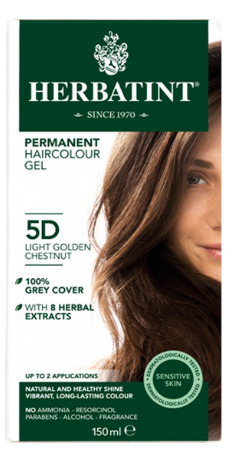 Image of Herbatint Haircolor Gel Light Golden Chestnut 5D