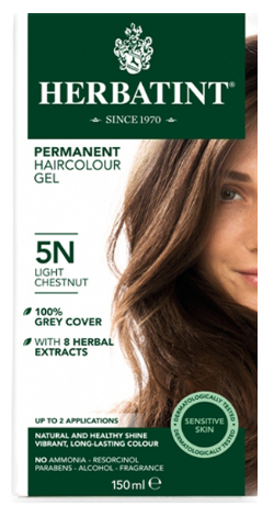 Image of Herbatint Haircolor Gel Light Chestnut 5N