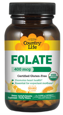 Image of Folate 400 mcg Chewable Orange