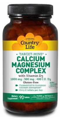 Image of Calcium Magnesium Complex with Vitamin D3 500/250 mg 200 IU