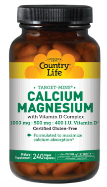 Image of Calcium Magnesium with Vitamin D Complex 250/125 mg 100 IU