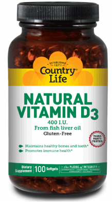 Image of Vitamin D3 400 IU Natural from Fish Liver Oil