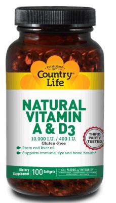 Image of Vitamin A & D3 1000/400 mg Natural