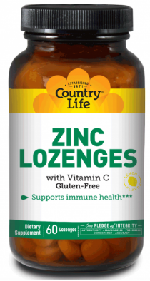 Image of Zinc Lozenges with Vitamin C 23/100 mg Lemon