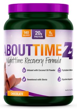 Image of ZZ Nighttime Recover Formula Casein Protein Powder Chocolate