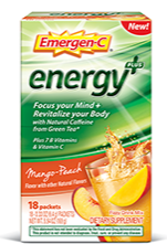 Image of Emergen-C Energy+ Powder Packet Mango Peach
