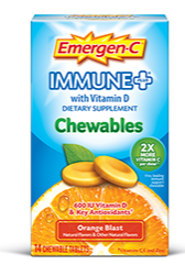 Image of Emergen-C Immune+ Chewable Orange Blast