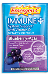 Image of Emergen-C Immune+ Powder Packet Blueberry Acai