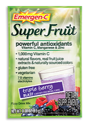 Image of Emergen-C Super Fruit Powder Packet Triple Berry Blast