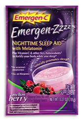 Image of Emergen-C ZZZ Sleep Aid Powder Packet Mellow Berrry